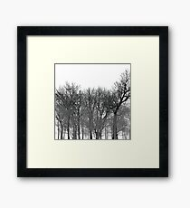 Abstract tree pattern in black Framed Print