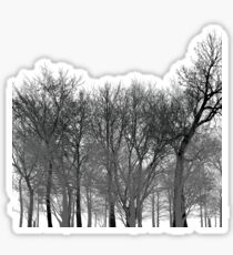 Abstract tree pattern in black Sticker