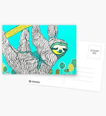 Spring Sloth Postcards