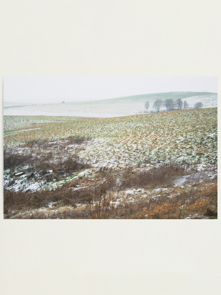 Alternate view of The First Step of Winter Photographic Print