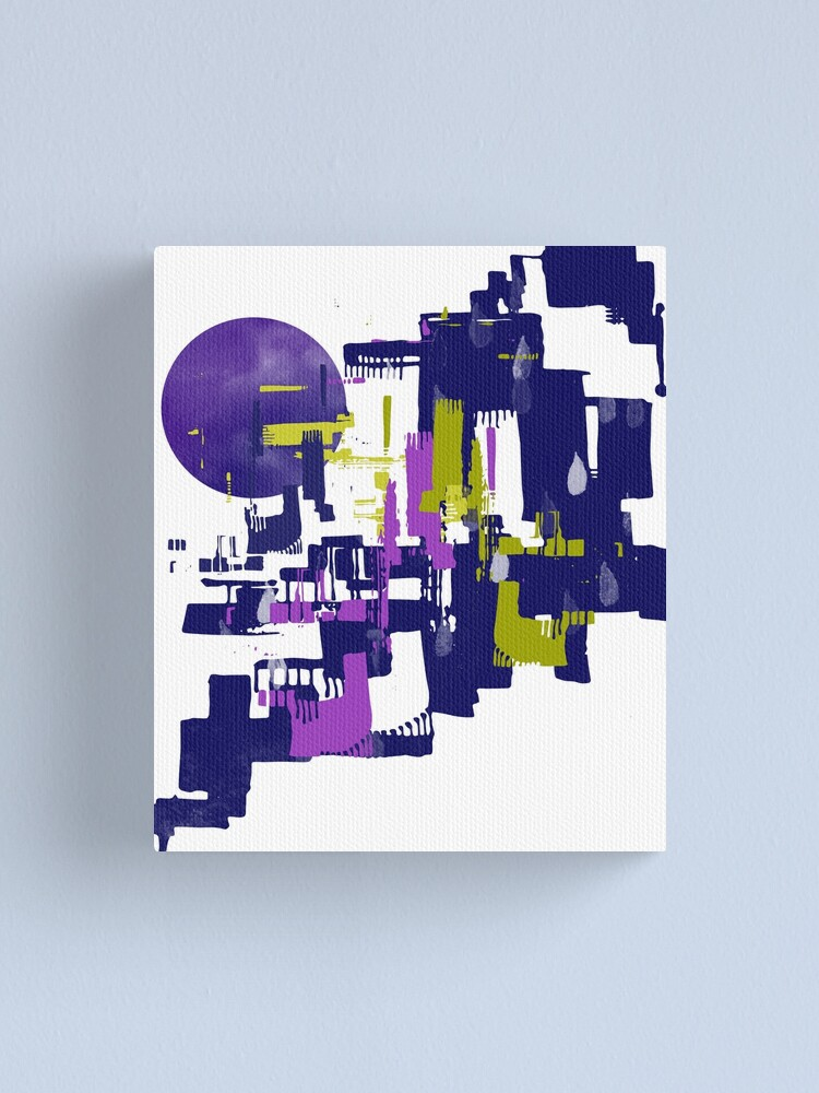 Alternate view of Abstract Cityscape Canvas Print