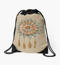 Mochila saco Golden Dreams Dreamcatcher
