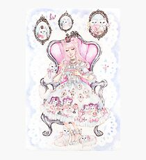 Cat's Tea Party Watercolor Painting Photographic Print