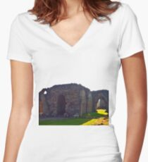 The Abbey Women's Fitted V-Neck T-Shirt