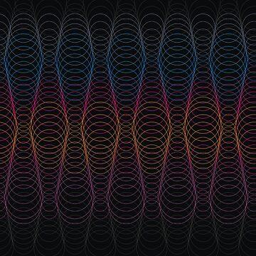 abstract pattern of circular lines  by Nata-V