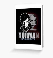 Norma-Norman Bates Motel Greeting Card