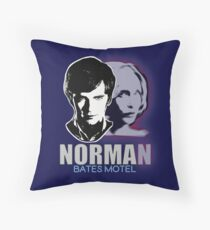 Norma-Norman Bates Motel Throw Pillow