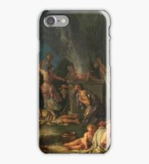 Houasse, Michel-Ange - Offering To Bacchus iPhone Case/Skin