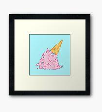 Unicorn melts Framed Print