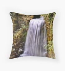 Waterfall at Coverham Throw Pillow