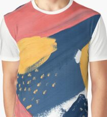 Pink/Yellow/Blue Graphic T-Shirt
