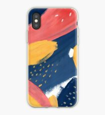 Pink/Yellow/Blue iPhone Case
