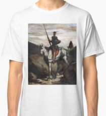 Honore Daumier - Don Quijote in den Bergen Classic T-Shirt