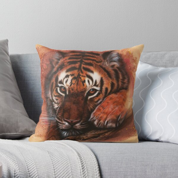 Under watchful Eyes Throw Pillow