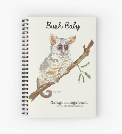 Pippin, the Bush baby Spiral Notebook