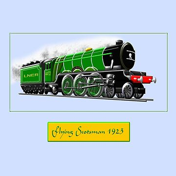 Steam Locomotive - The Flying Scotsman 1923 by ZipaC
