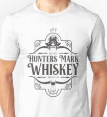 Distressed Hunters Mark Whiskey (Black) Unisex T-Shirt