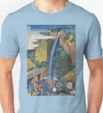 Hokusai Katsushika - Roben Waterfall At Ohyama Unisex T-Shirt
