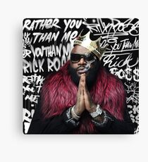 """Rick Ross' Album """"Rather you than me""""   All products Canvas Print"""