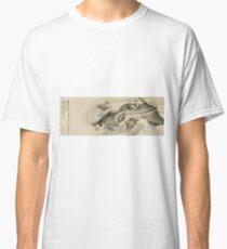 Hokusai Katsushika - Picture Of Koi Carp And Turtles Classic T-Shirt