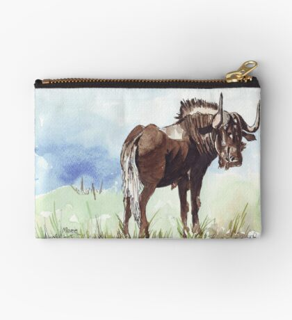 Black Wildebeest (Connochaetes gnou) Zipper Pouch
