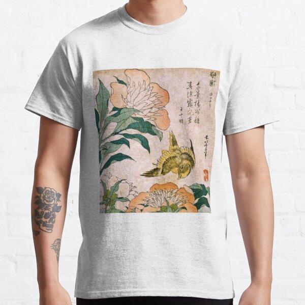 Hokusai Katsushika - Peony And Canary  Classic T-Shirt