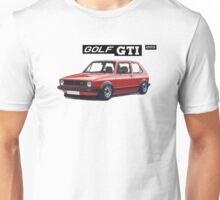 VW GOLF 1 GTI -2 Unisex T-Shirt
