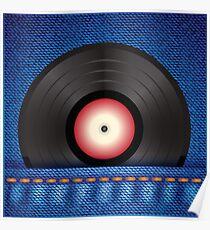 vinyl disc Poster
