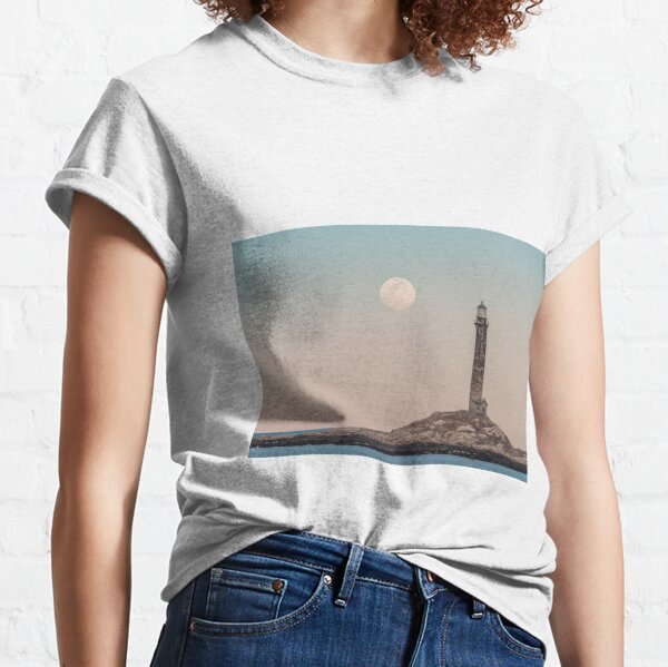 Pink moon rising over Thacher Island Classic T-Shirt