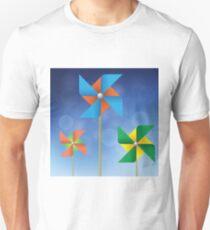 colorful windmills Unisex T-Shirt