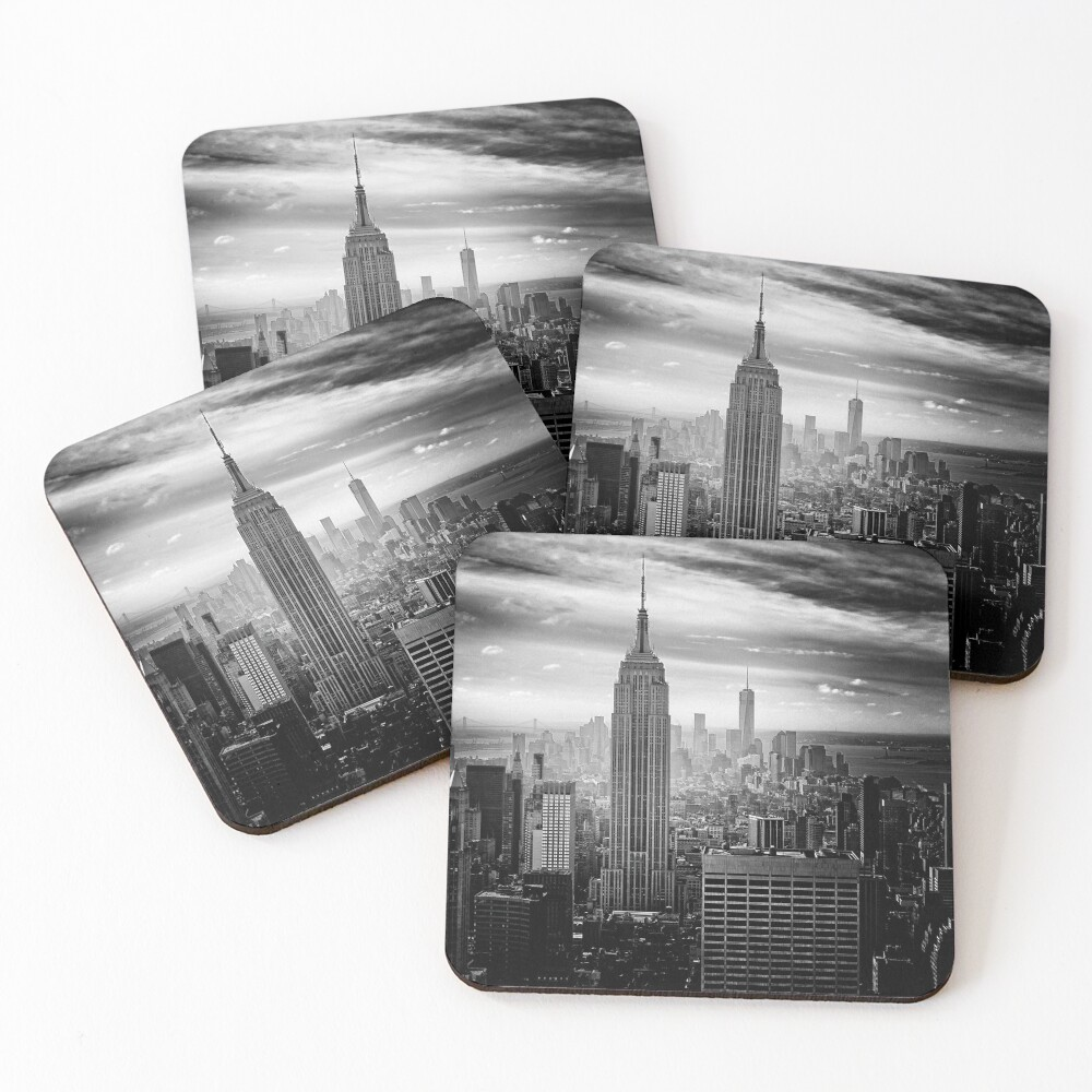 New York City Skyline Coasters (Set of 4)