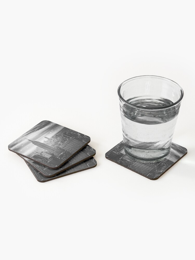 Alternate view of New York City Skyline Coasters (Set of 4)