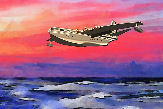 The Saunders-Roe SR.45 Princess, Cowes, Isle of White by Dennis Melling