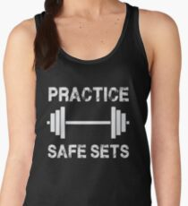 Practice Safe Sets - Funny Gym Workout  Women's Tank Top