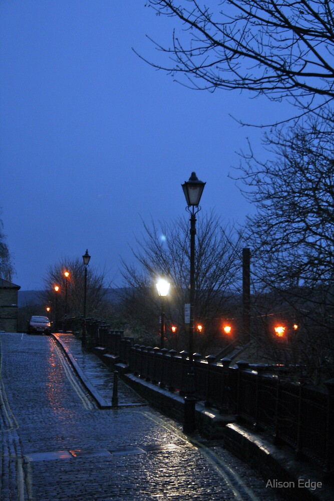 Lights in Saltaire by Alison Edge