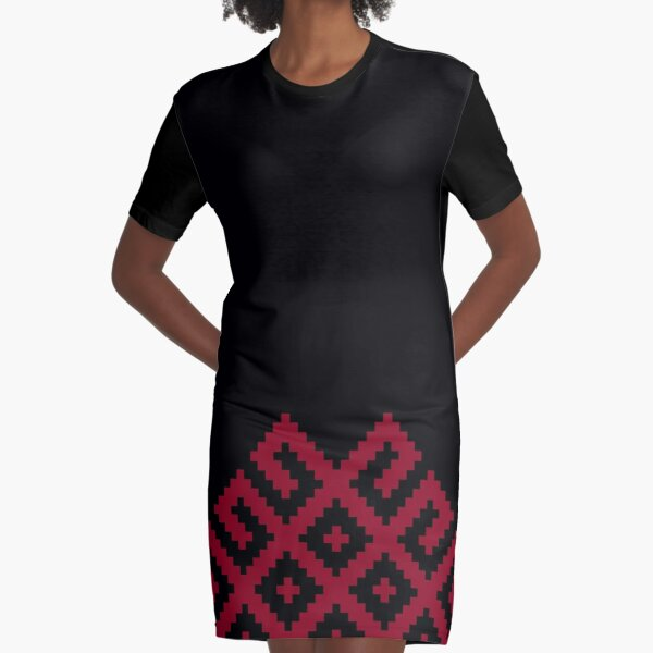 Ancient Nordic Symbol Graphic T-Shirt Dress
