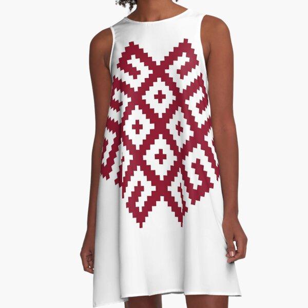 Ancient Nordic Symbol A-Line Dress