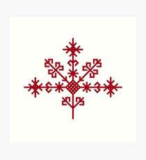 Austras koks Ancient Latvian Symbol Art Print