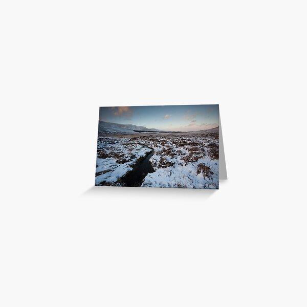 winter by loch muick Greeting Card