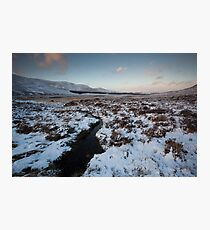 winter by loch muick Photographic Print