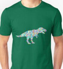Bright patterned T Rex doodle Unisex T-Shirt