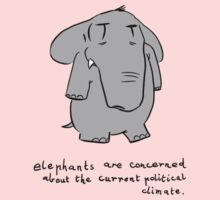 elephants are concerned about the current political climate