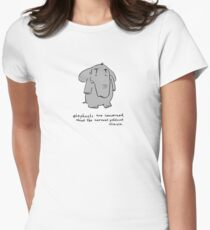 elephants are concerned about the current political climate Women's Fitted T-Shirt