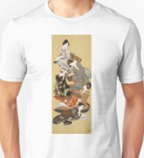 Hokusai Katsushika - Five Beautiful Women Unisex T-Shirt