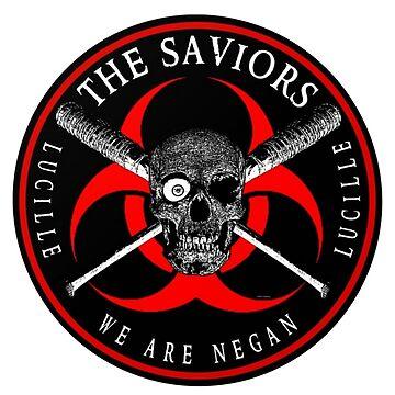 El logotipo de The Saviors - The Walking Dead - Negan de Cudge82
