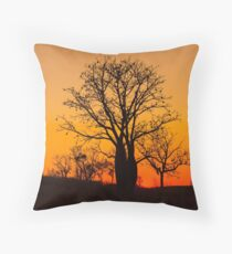 Boab trees at sunset in the Kimberley Throw Pillow