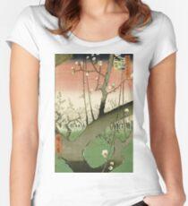 Hiroshige - Plum Garden, Kameido Women's Fitted Scoop T-Shirt