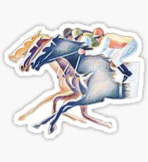 Horse race  Sticker