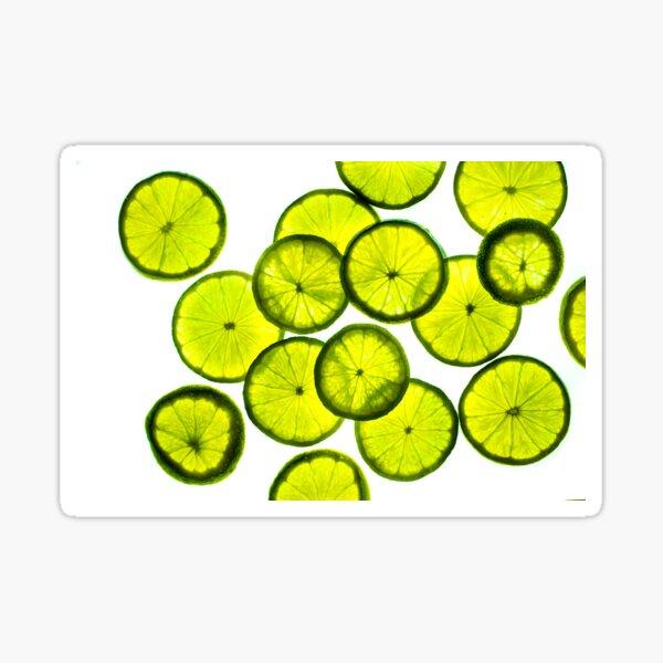 Green limes Sticker
