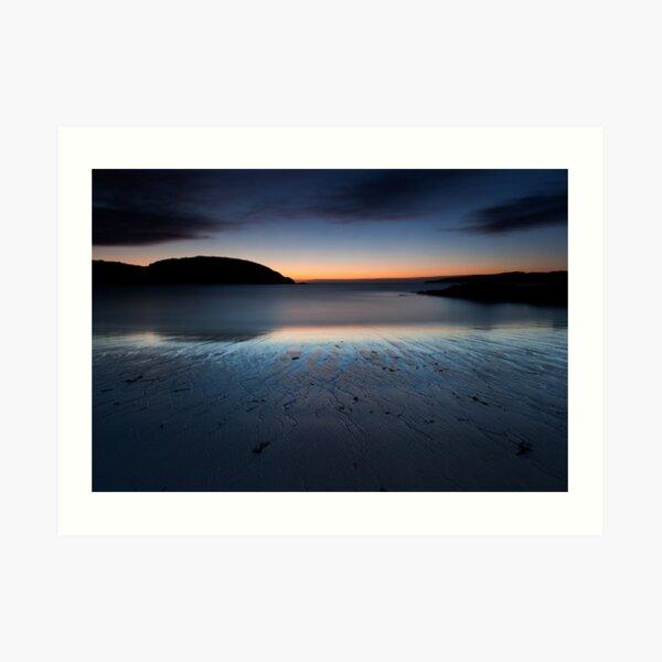 achmelvich beach sunset Art Print